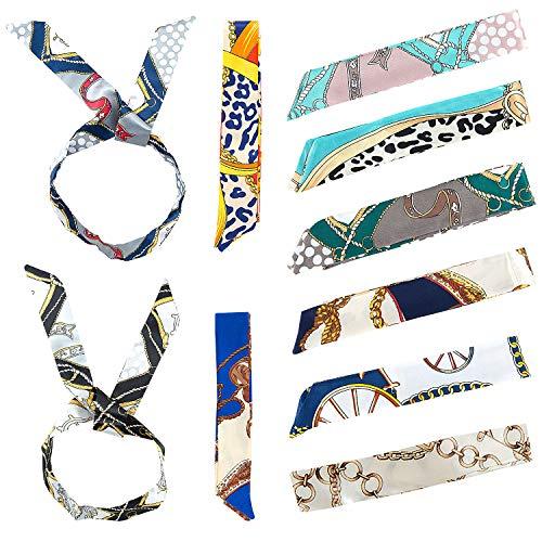 MOOKLIN ROAM Foulard Donna 10 pezzi Sciarpa di Seta piccola sciarpa skinny sciarpa Multifunzione Sciarpa per donna decorazione per collo, sciarpa, cinturino, fascia per capelli,100 x 4.5