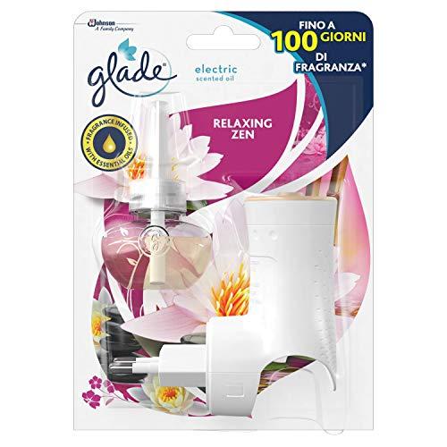 Glade Diffusore di Oli Essenziali Elettrico, Starter Set, Fragranza Relaxing Zen, Confezione da 1 Diffusore e 1 Ricarica