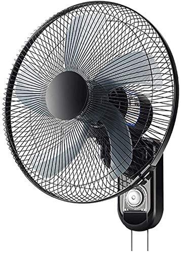 Knoijijuo Ventilatore A Muro Ventilatore con Telecomando, L'esposizione di LED, Ventilatore A Muro Silenzioso, Timer 9 Ore, 3 velocità