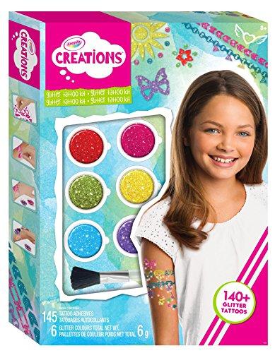 Crayola- Creations Set Tatuaggi Arcobaleno