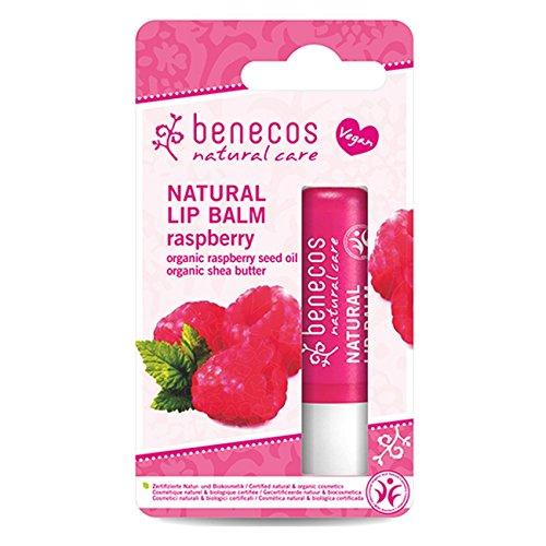 2 x Benecos Natural Lip Balm Raspberry 4,8g