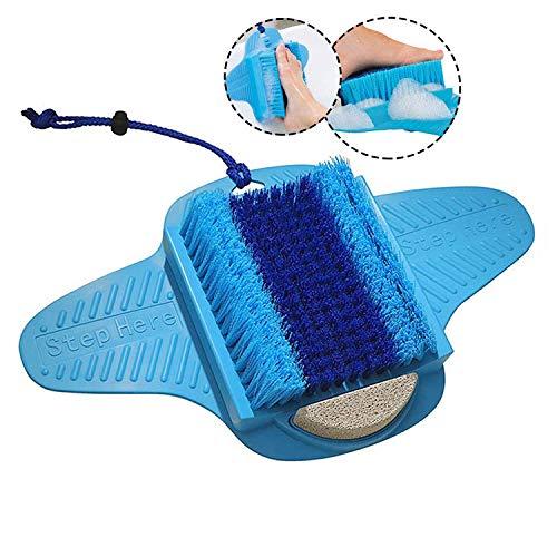 Spazzola massaggiante doccia con ventosa antiscivolo e spazzola morbida per massaggio ai piedi, adatto per la cura dei piedi, la circolazione dei piedi e dei piedi