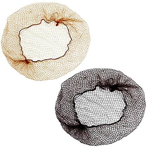 20 Pezzi Retine Per Capelli Invisibili Retina Per Capelli Chignon Bun Nets Retina Per Capelli Nylon Reti Invisibili Elastiche Retine Per Parrucche Capelli Elastico Bordo Maglia Per Donne (Nero E Oro)