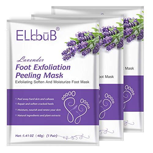 Maschera Peeling Piedi (3 PACK) – Rimuovere Calli e Pelle Morta piedi - impurità dalla pelle - pulizia profonda esfoliante piedi - pulizia profonda esfoliante piedi