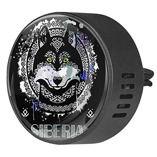 Siberian Husky in stile etnico diffusore per auto in EVA diffusore di oli essenziali per aromaterapia, frutto della passione floreale