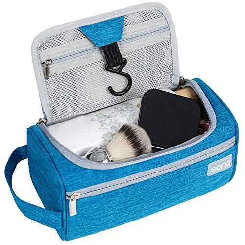 Amazon Brand - Eono Beauty Case Uomo & Donna, Borsa da Toilette Unisex Borsa Cosmetici per Valigie, Borsa da Viaggio per Lavaggio, Wash Bag, Toiletry Bag, Borsa Appendibile da Viaggio - Blu