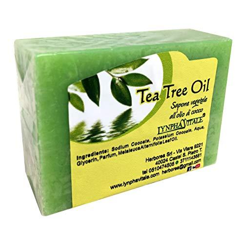 Sapone artigianale al Tea Tree Oil - 100% naturale e vegetale – Ideale come Sapone viso per pelli grasse - Delicato sulla Pelle - Made in Italy