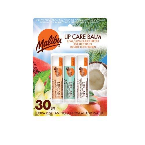 Malibu Blister Lipbalm con SPF30, Mango / menta / Tropical 12 ml