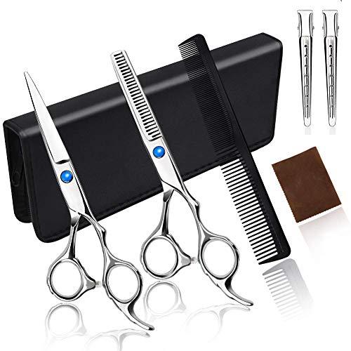 Forbici per capelli, set professionale di alta qualità, con pettine, per uomini e donne, uso domestico