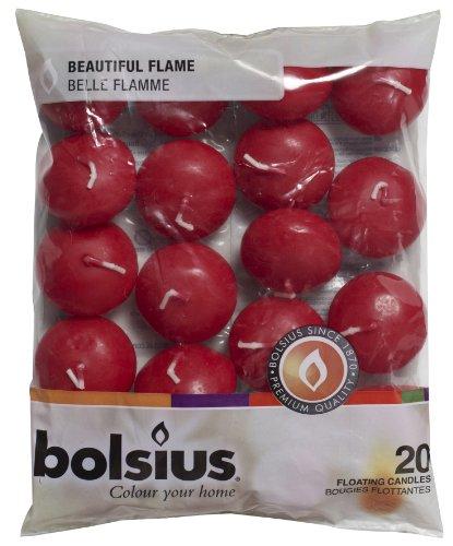 Bolsius candela galleggiante, cera di paraffina, vino rosso, 20 pezzi
