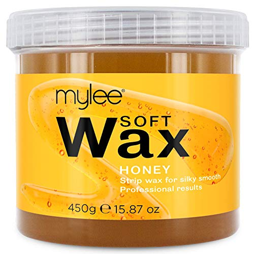 Mylee Cera di Miele in Crema Soft per Pelle Sensibile 425g, Cream pot per depilazione, Ideale per tutto il corpo, Viso e zona bikini, compatibile con il microonde e lo scaldacera