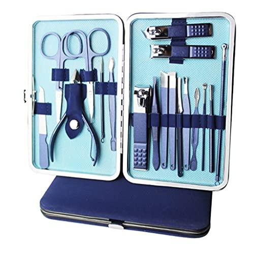 WYFC Clippers for Unghie Set Kit Grooming Kit Pedicure Professionale Set Pedicure Manicure Pedicure Set Dito e Punta for Unghie Blue 18 Pezzo (Color : Blue)