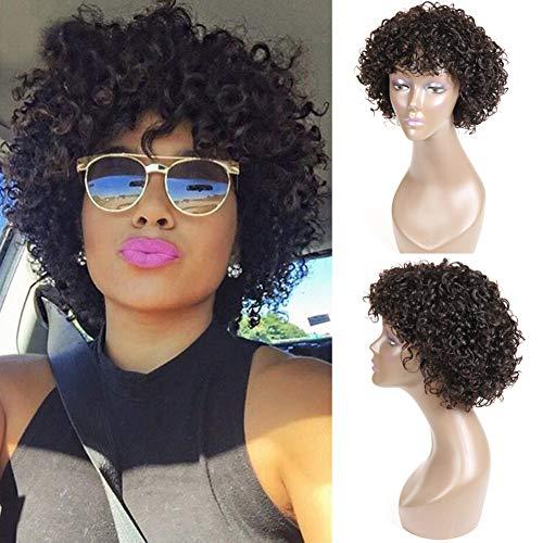 UDU parrucche corte ricci per capelli neri donne brasiliani corti ricci Bob capelli umani nessuna parrucche anteriori in pizzo parrucche corte ricci bob (parrucca profonda riccia) …