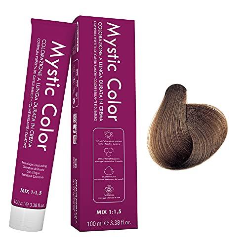 Mystic Color - Colore Biondo Scuro 6 - Tinta per Capelli - Colorazione Professionale in Crema a Lunga Durata - Con Cheratina Idrolizzata, Olio di Argan e Calendula - 100 ml