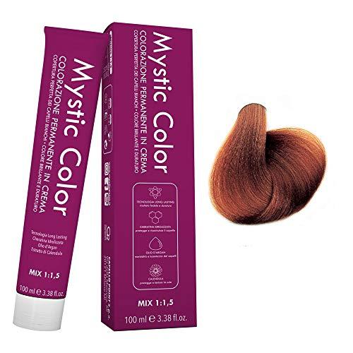 Mystic Color - Colore Biondo Medio Rame 7.4 - Tinta per Capelli - Colorazione Professionale in Crema a Lunga Durata - Con Cheratina Idrolizzata, Olio di Argan e Calendula - 100 ml