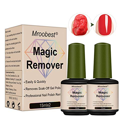 Magic Gel Polish Remover, Rimuove Lo Smalto In Gel Soak-Off, Magic Nail Polish Remover, Magic Remover Gel, Rimuovere rapidamente la colla per smalto dalle unghie senza danneggiare le unghie-15ml(2pcs)