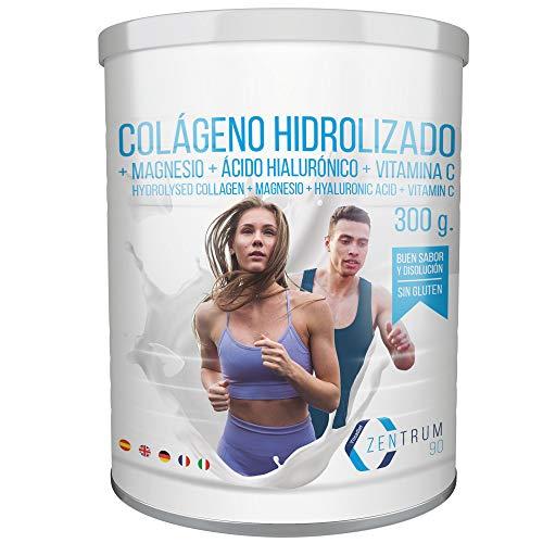Collagene idrolizzato in polvere con magnesio, acido ialuronico e vitamina C - Salute per le ossa e le articolazioni - 300 grammi