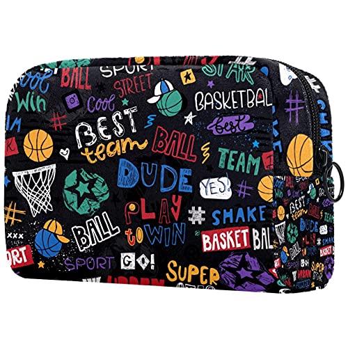 Sacchetto cosmetico Toiletry Bags Viaggio Business Borsa Impermeabile Nero Basket Boys 18.5x7.6x13.0 cm