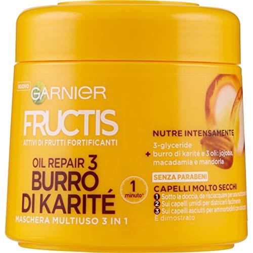 Garnier Maschera Capelli Fructis Oil Repair, per Capelli Molto Secchi, 300 ml