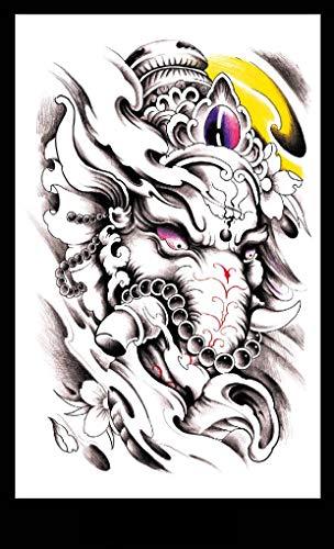 KTTO Tatuaggio Braccio Adesivi Tatuaggio Impermeabile Modello Elefante Tailandese Uomini e Donne Americano personalità Mezza Braccio Tatuaggio Adesivi 8 pz/Set 12x19 cm/pz