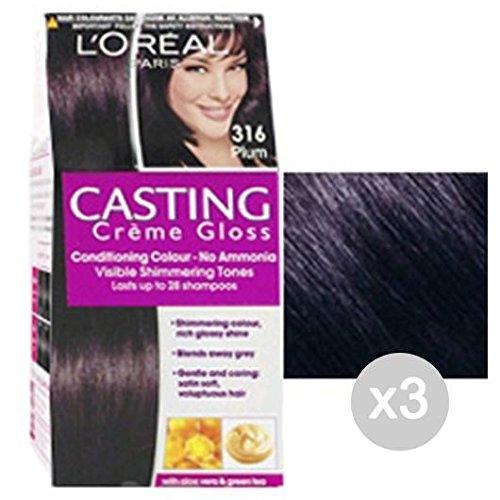 Set 3 CASTING Creme Gloss 316 Prugna. Tinta E Colore Per Capelli