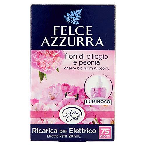 Felce Azzurra - Aria di Casa, Ricarica Diffusore Elettrico Fiori di Ciliegio e Peonia, Puro Benessere - 20 ml