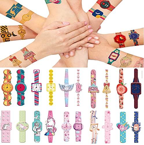 Orologi Bambini Tatuaggi Temporanei, Tatuaggi Finti Adesivi Giocattoli Gadget per Bambini Ragazzi Festa Compleanno Regalo Impermeabile Tatuaggio Temporaneo, 15Fogli