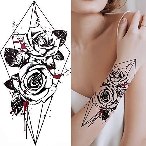 YINSHENG Autoadesivo del Tatuaggio della Decorazione di Body Art Autoadesivo del Tatuaggio dell'autoadesivo Freddo della personalità Peonia Sexy Giglio della peonia Tatuaggio Margherita del Loto