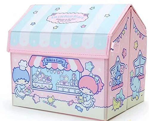 Borsa cosmetica Cartoon Little Twin Stars Girls Simpatico organizzatore pieghevole di detriti per trucco 25x20x23cm-Little_Twin_Stars_25x20x23cm
