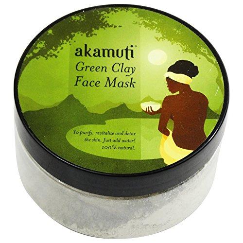 Akamuti - Maschera Viso all'Argilla Verde per Purificante Detox Pelle Sensibile ed Impura 100 gr