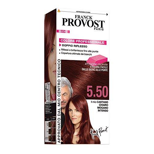 Franck Provost Colorazione Permanente Capelli, Tinta Copertura Ottima, Colore Professionale, 5.50 Castano Chiaro Mogano Intenso