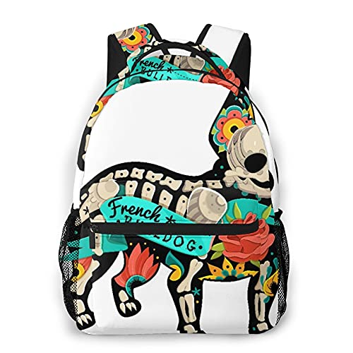 SXCVD Zaino casual,Tatuaggio floreale con decorazione vintage in stile messican,Zaino per laptop da lavoro,Zaino da viaggio per escursionismo per uomo,donna,adolescente