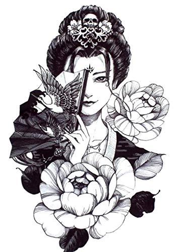 Tatuaggio giapponese Geisha Tatuaggio Tatuaggio Fake Tattoo Th700