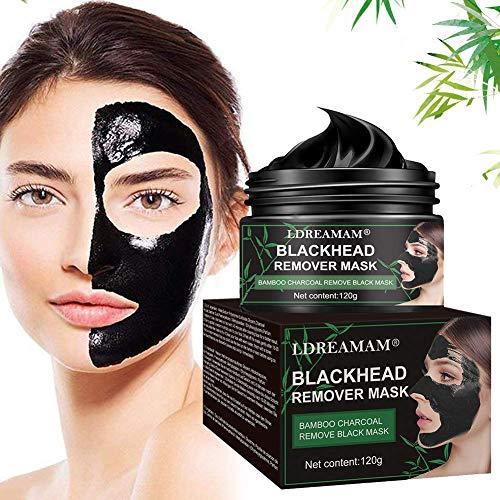 Maschera Nera,Maschere Viso,Blackhead Remover Black Mask,Facciale Cura Strappando Stile Pulizia Profonda pulizia dei pori di crema per il viso 120 ml