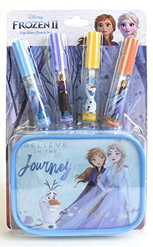 Markwins Disney Frozen Lip Gloss & Pouch Set - Set Trucchi Per Bambine - Confezione Regalo Con Beauty Case Frozen - Kit Lucidalabbra Bambina In 4 Colori - Giochi Frozen E Regali Per Bambini - 110 g