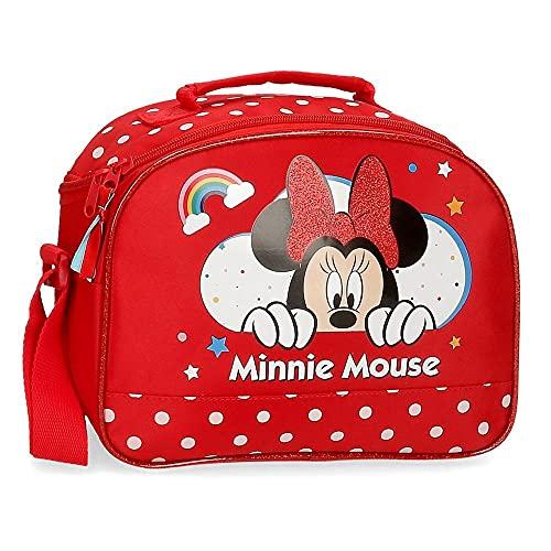 Disney Minnie Rainbow Moda per bambini, 25x19x10 cms, Rojo