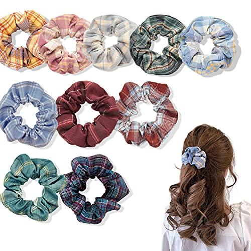 Confezione da 10 Elastici e fermacoda, Ciambelle per chignon, cordino elastico per legare i capelli e Accessori styling capelli