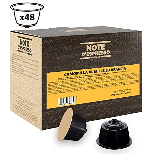 Note D'Espresso Capsule Compatibili con Macchine Nescafé e Dolce Gusto, Chamomile Honey Orange 48 capsule