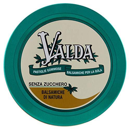 Valda Caramelle per La Gola, Pastiglie Gommose Balsamiche, Senza Zucchero, con Olio Essenziale di Eucalipto e Levomentolo, 50 G