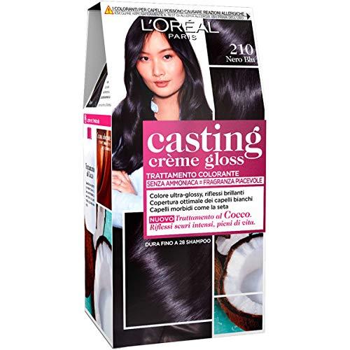 L'Oréal Paris Tinta Capelli Casting Creme Gloss, Tinta Capelli senza Ammoniaca per una Fragranza Piacevole, 210 Nero Blu