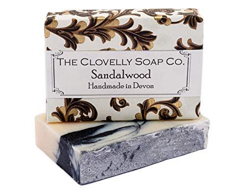 Clovelly Soap Co Saponetta Naturale e Fatta a Mano al Sandalo, Bergamotto e Carbone, per Tutti i Tipi di Pelle, 100gr