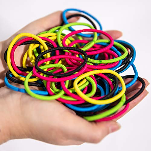 Slinkyes | 50 Pz | Elastici per Capelli | Lacci Colorati| Resistenti adatti per Bambina |Elastico Capello Uomo | Donna Accessori utili come Legami