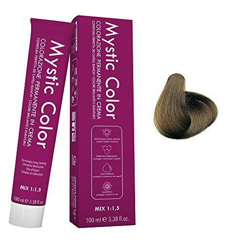 Mystic Color - Colore Biondo Chiaro Freddo 8.11 - Tinta per Capelli - Colorazione Professionale in Crema a Lunga Durata - Con Cheratina Idrolizzata, Olio di Argan e Calendula - 100 ml