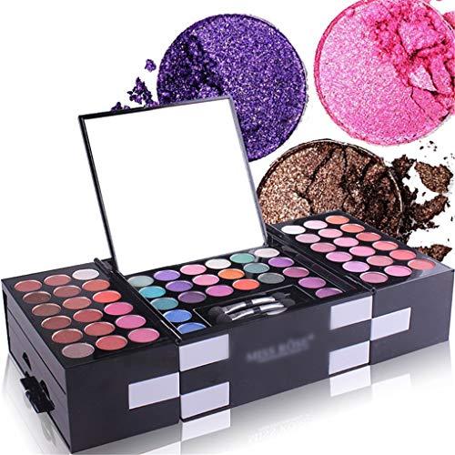 MUUZONING Set palette 148 colori per make up cosmetici professionali include rossetto correttore ombretti lucidalabbra fard cipria fondotinta Polvere - Per l'uso quotidiano e professionale N219