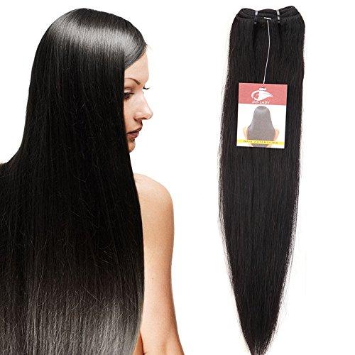 MY-LADY 7A 100g 50cm Extension Matassa Tessitura Rinforzata Brasiliano Human Hair Vergine Unprocessed Remy Capelli Veri Naturali