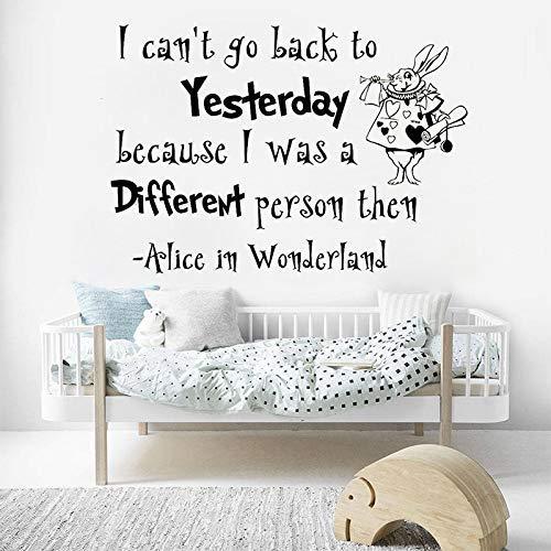 42X60, Adesivi Murali, Tatuaggi Murali, Decalcomania Di Arte Del Paese Delle Meraviglie Coniglio Bianco Vinile Adesivo Murale Per Cameretta Murale Cameretta Per Bambini