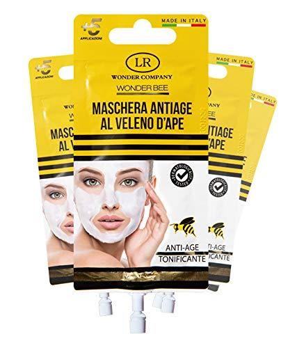 Wonder Bee Mask, maschera viso al veleno d'ape 4 bustine da 5 applicazioni (4x15ml) - LR Wonder Company