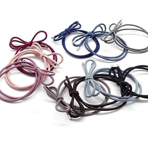 Tie Hair Rope, Corda A Doppia Elica Per Capelli Fascia Elastica In Gomma Con Cordino, 30 Pezzi