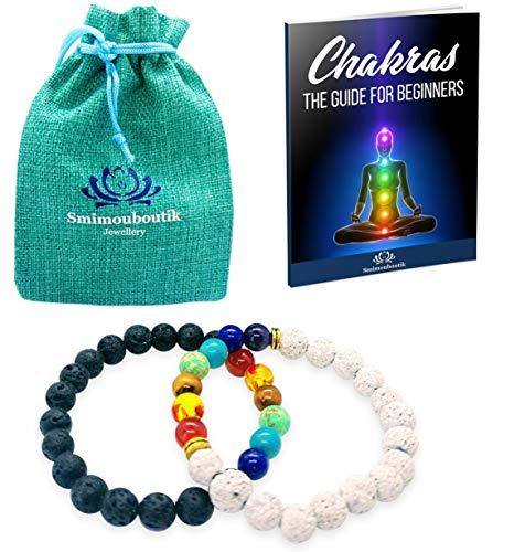 Bracciale Chakra [2 PCS] Smimouboutik - GRATIS: Ebook inviato su richiesta - Per meditazi, yoga, aromaterapia, reiki