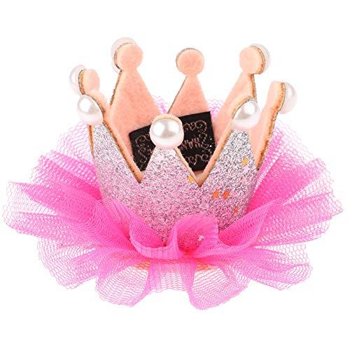 iEFiEL Tiara Bambina Fascia Principessa Copricapo Ragazza Fiore Hairband Headwear Fiori Corona Capelli Compleanno Fasce Elastiche Neonato Toddlers Argento Taglia unica